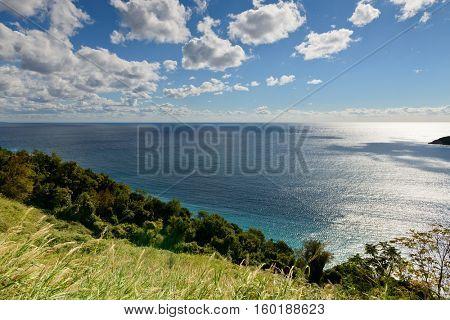 Mediterranean sea near Budva landscape, Montenegro, Europe.