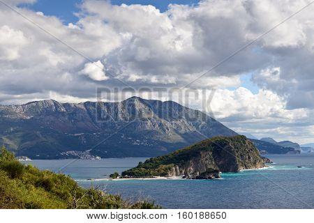 Budva bay  landscape, Montenegro, Europe.