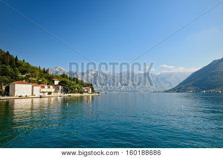 Perast town, Kotor bay, Montenegro, Europe