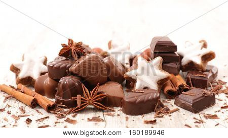 chocolate,cookie and spice