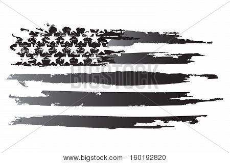 American grayscale flag american vector usa backgrounds
