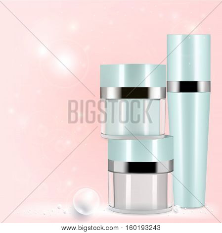 Collagen Serum Natural and Background Vector Skin Care Cosmetic.