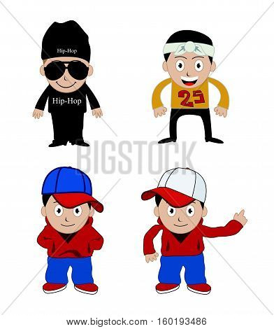 rapper vector illustration art on white background