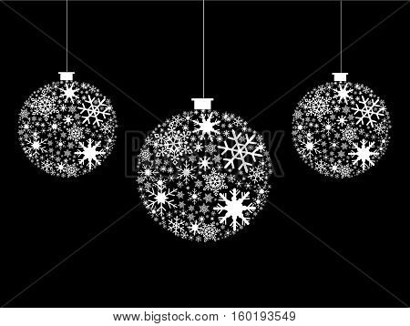 snowflakes vector illustration art on black background