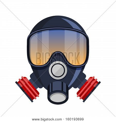 Vector respirator gas mask flat Icon isolated
