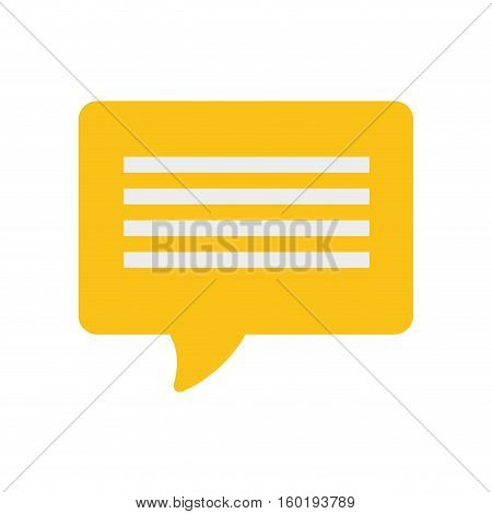 yellow bubble speech dialogue talk vector illustration eps 10