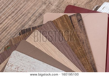 different wood texture floor on wooden Background