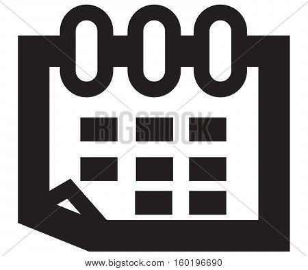 Calendar Icon vector flat graphic agenda symbol month