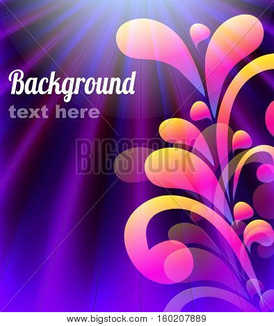 Floral background. Vector abstract illustration with place for text.