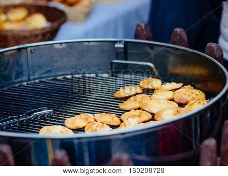 Grilled Polish Traditional Smoked Cheese Oscypek