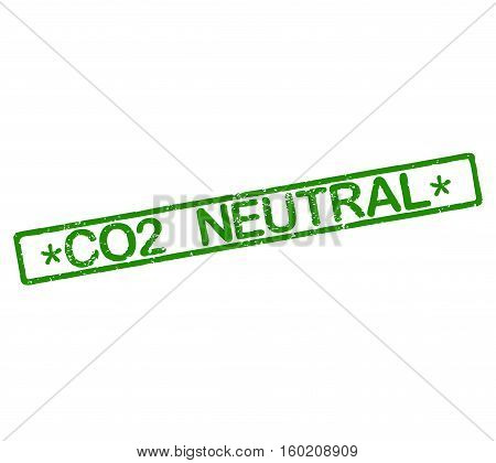 Rubber stamp with text CO2 neutral illustration
