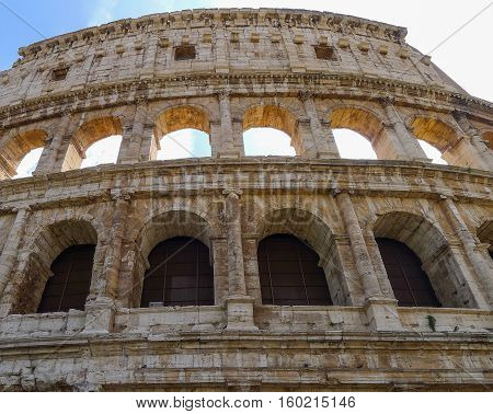 The Colosseum or Coliseum also known as the Flavian Amphitheatre is an oval amphitheatre in the centre of the city of Rome Italy.