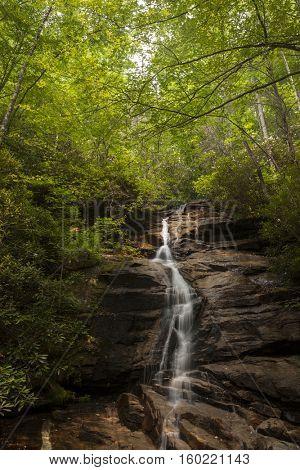 Waterfall in the Appalachian Mountains of South Carolina
