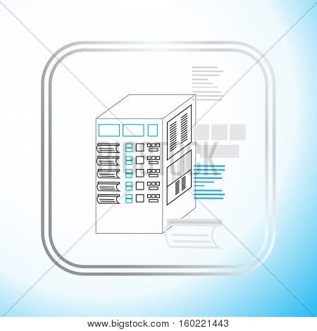 production control panel vector illustration for the production of the machine icon