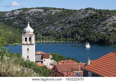 Scradin (Croatia) / Boats in marina .