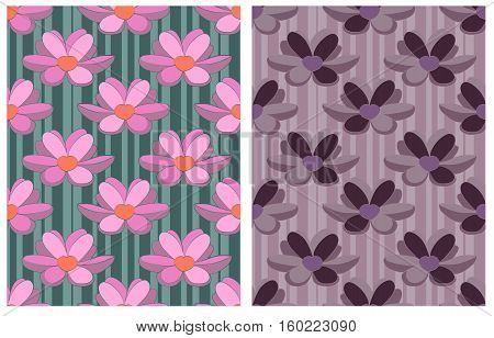 Seamless from water lily. Vector floral pattern.
