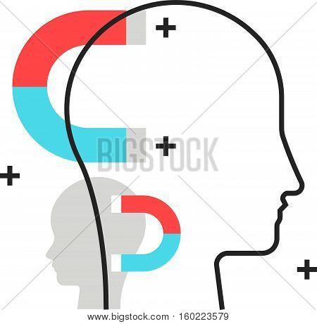 Color Box Icon, Customer Acquision Concept Illustration