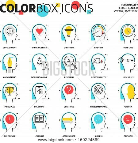 Color Box Icons, Business And Personality Concept