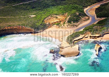 Australia Great Ocean Road. View from a helicopter. Taken on 16.february 2011.