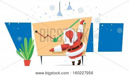 Santa in office good luck next year