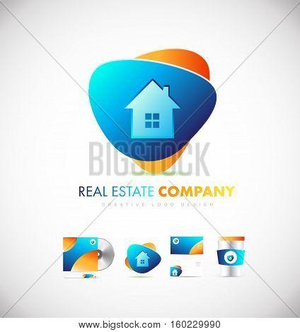 Real estate house home vector logo icon sign design template