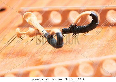 dulcimer stringed musical instrument with hammer