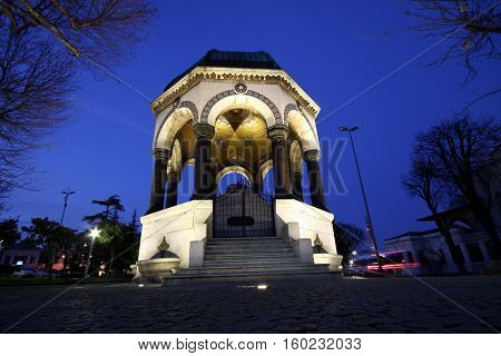 German Fountain in Sultanahmet district, Istanbul, Turkey.