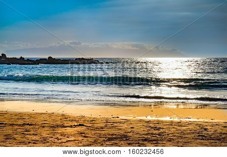 Sea and Beach view at Tenerife island, Spain