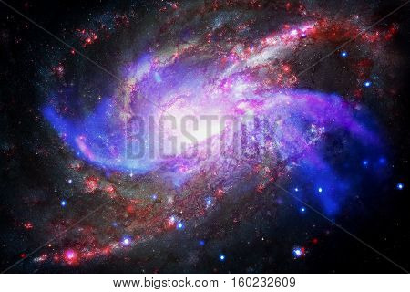 Galaxy and nebula. Elements of this Image Furnished by NASA