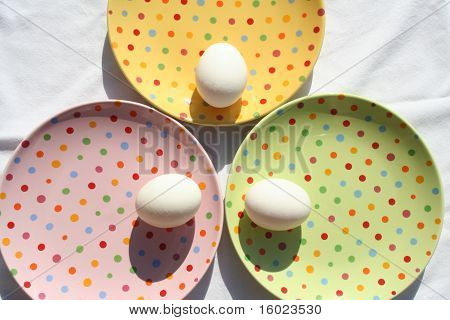 Plates With Eggs