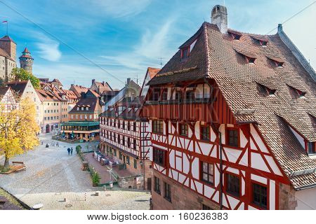 Old town of Nuremberg at sunny fall day, Germany