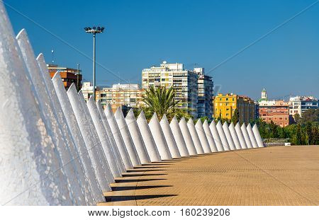 White cones of trencadis in Valencia - Spain