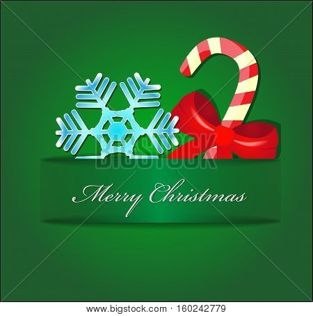 Christmas vector card with place for text.