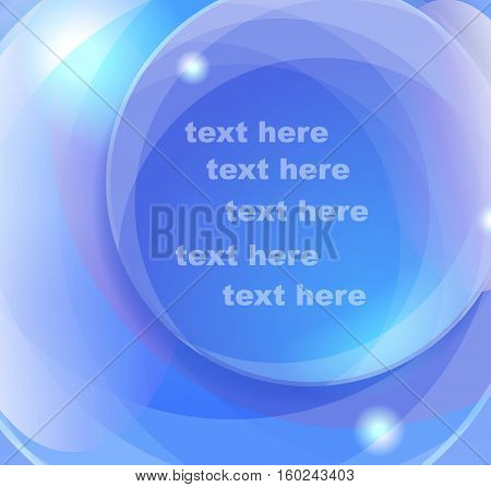 Blue vector background with place for text.