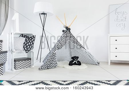 Black And White Child Room