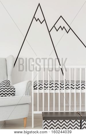 Nursery With White Cot