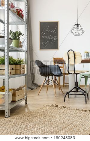 Flat In Industrial Style