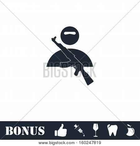 Raider icon flat. Vector illustration symbol and bonus pictogram