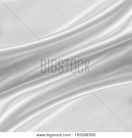 White silk or satin. Silk background texture.