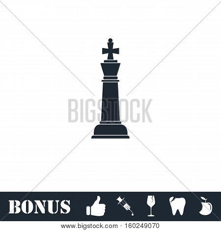 Chess icon flat. Vector illustration symbol and bonus pictogram