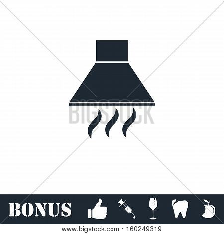 Extractor hood icon flat. Vector illustration symbol and bonus pictogram