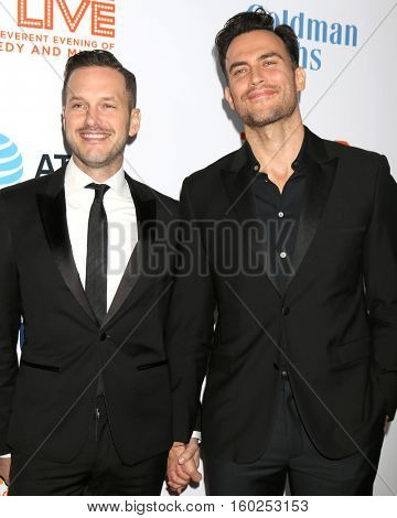 LOS ANGELES - DEC 4:  Jason Landau, Cheyenne Jackson at the TrevorLIVE Los Angeles 2016 at Beverly Hilton Hotel on December 4, 2016 in Beverly Hills, CA