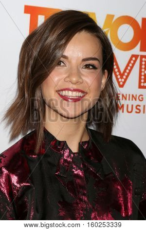 LOS ANGELES - DEC 4:  Ingrid Nilsen at the TrevorLIVE Los Angeles 2016 at Beverly Hilton Hotel on December 4, 2016 in Beverly Hills, CA