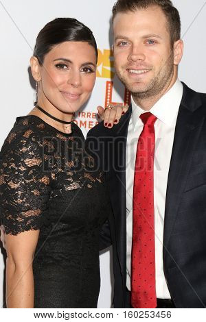 LOS ANGELES - DEC 4:  Jamie-Lynn Sigler, Cutter Dykstra at the TrevorLIVE Los Angeles 2016 at Beverly Hilton Hotel on December 4, 2016 in Beverly Hills, CA