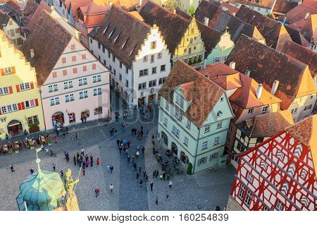 half-timbered houses of Rothenburg ob der Tauber, Germany