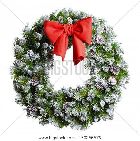 christmas wreath isolated on white