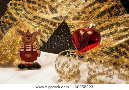 Rudolph Christmas decoration and Christmas with Love
