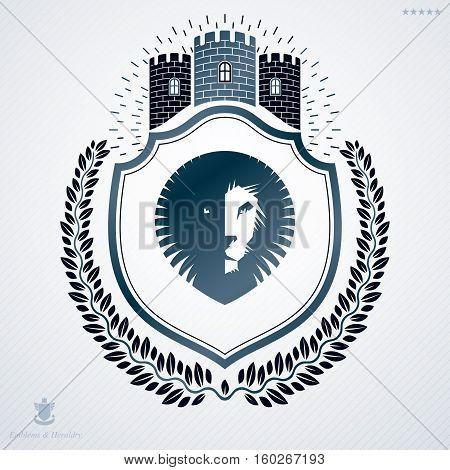 Classy Emblem, Vector Heraldic Coat Of Arms.