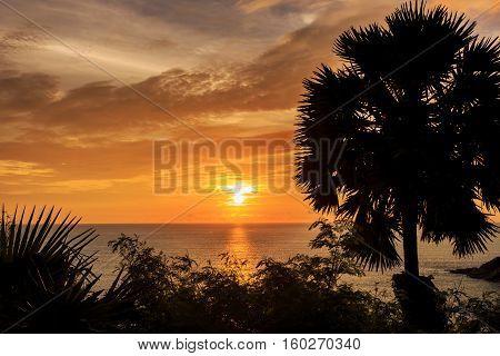 Dramatic Sunset In Phuket, Thailand