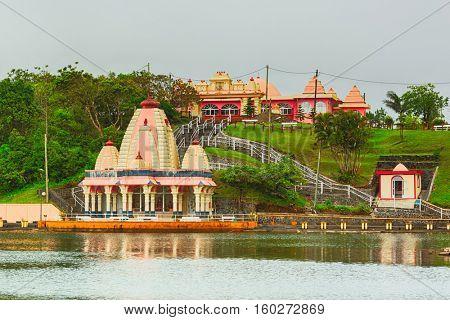 Temple at Ganga Talao. Mauritius.